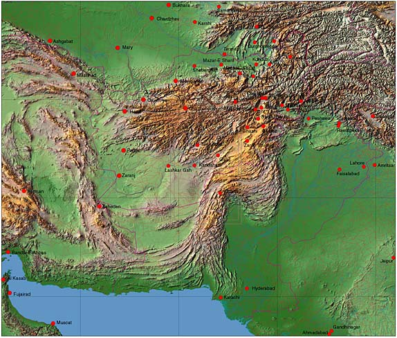 Afghanistan – Afghanistan Iran Map